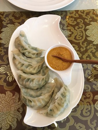 Tibet Kitchen: Steamed Momos (actually 6, diner jumped the gun...)