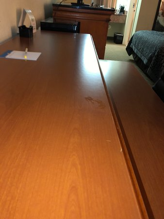 Saint George, SC: sticky substance on the desk
