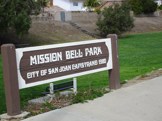 San Juan Capistrano, CA: Sign marker for the park
