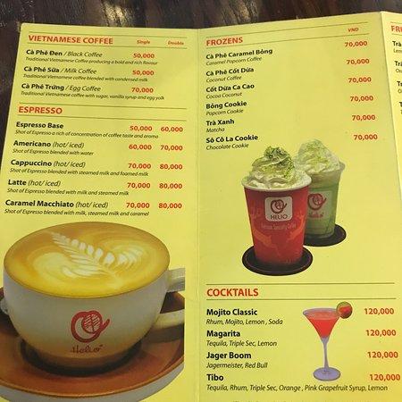 Helio Original Coffee House: Yummy sweets! Menu