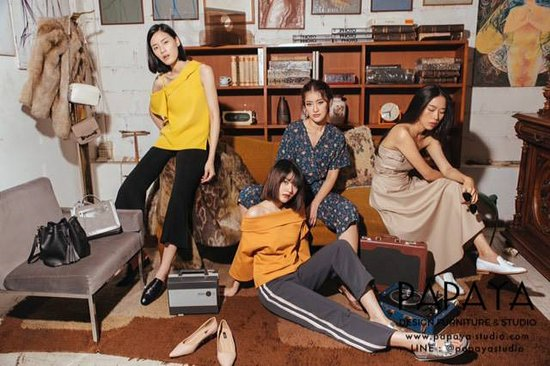 Papaya Design Furniture & Studio: Papaya as studio for commercial shoots for CAMP brand.