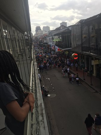 View from loft suite facing Bourbon Street