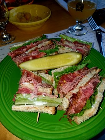 Swarthmore, PA: Roast beef club sandwich special - delicious!