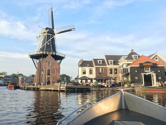 Explore the historical canals and windmills at Haarlem, just outside Amsterdam