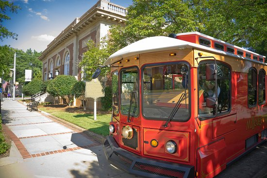 Milledgeville Welcome Center and starting location for trolley tours