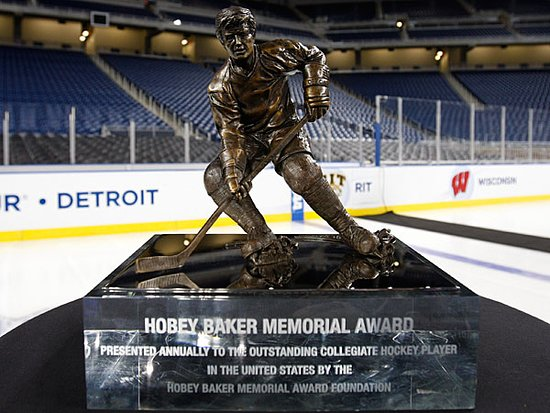 Roslyn, NY: The Hobey Baker Award, college hockey's mvp, is at the Museum now