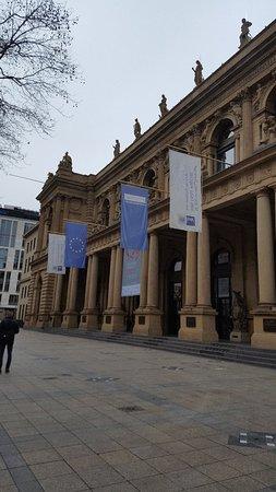 Schillerpassage Frankfurt impresdive building and square picture of stock exchange borse