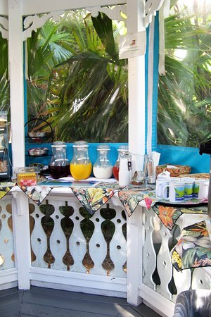 Ambrosia Key West Tropical Lodging: Plenty of breakfast options available at morning poolside buffet