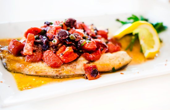 Pound Ridge, NY: Come in for Dinner and Enjoy our Branzino with diced tomatoes, Gaeta olives and capers in lemon