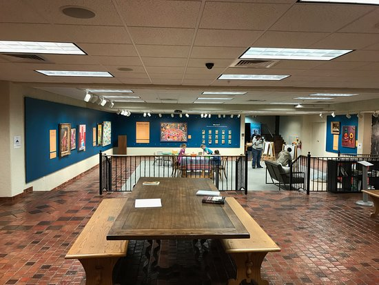 Springville Museum of Art: art discovery area in basement of museum