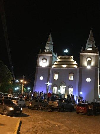 Barbalha, CE: Fachada da igreja matriz no domingo de ramos 2018