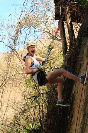 Canopy River: Rappel on a wall at River Expedition