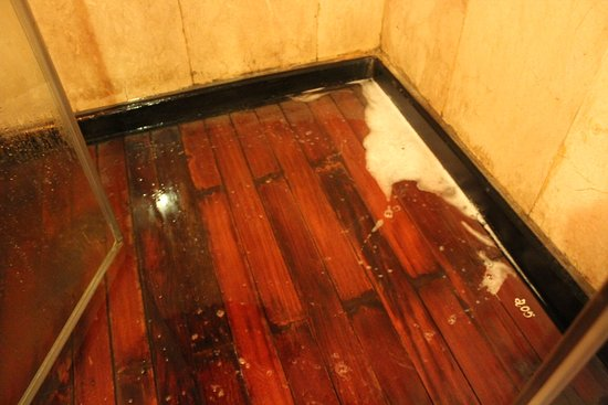 2-Day Halong Bay Syrena Cruise- Included Round Trip Shuttle Bus: shower showing tiles badly contaminated and needed cleaning