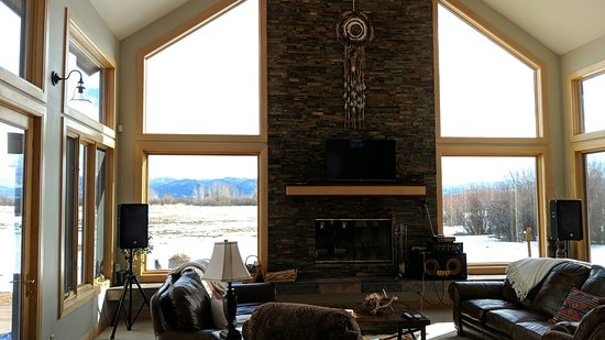 Victor, ID: Great room with incredible views