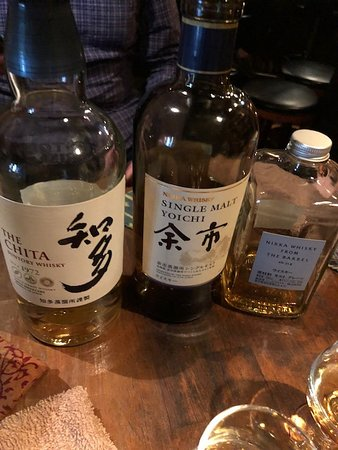 Deep Osaka All-Inclusive Nighttime Foodie Cultural Experience: Whiskey for the tasting flight.