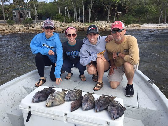 Flat Out Inshore Charters: My 3 girls and me with our catch!