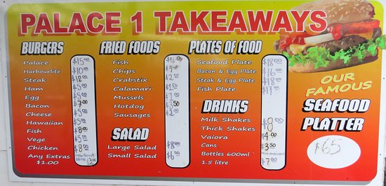Palace Takeaways: Menu