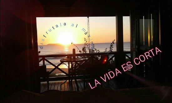 Refúgio Das Galés: Atardecer desde la habitaciòn