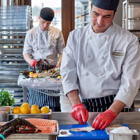 Browns Brasserie & Bar: Fresh Fish Specials every day