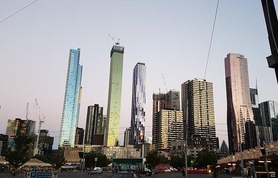Greater Melbourne, Australia: Melbourne CBD just before sunset