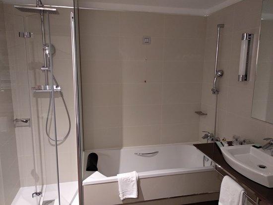 Detalle del amplio bao con baera y ducha independientes Picture