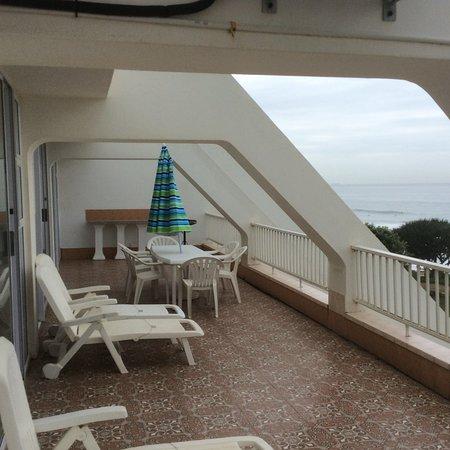 Fleetwood on Sea: Blick auf die Terrasse eines Apartments
