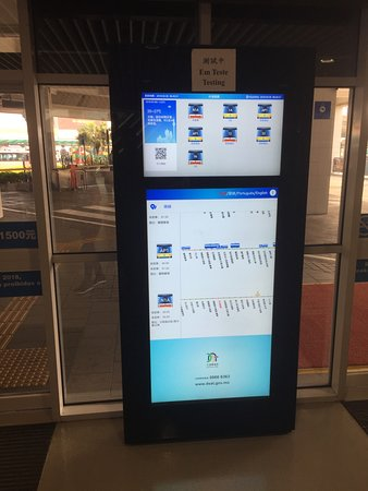 New public bus touch-screen machine (in testing) - Picture