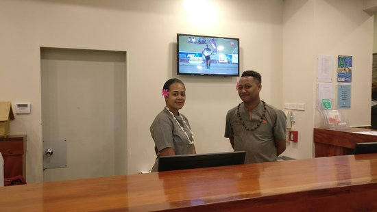 Tanoa Plaza Suva: You will be received with Bula Smile from Joseph and Mereoni