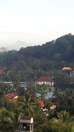 Highest View: View from room over Kandy