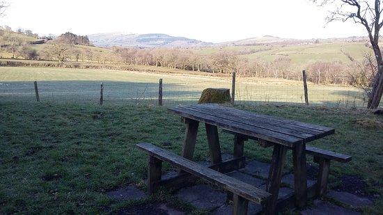 Llanddeusant, UK: View from front door