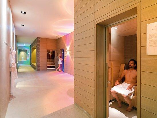 Lavant, Austria: Sauna Welt mit verschiedenen Saunen im Dolomitengolf Resort