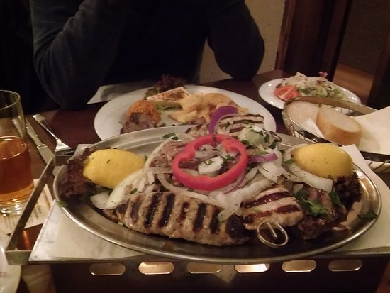 Heusenstamm, Germany: The Rhodos mixed grill for two