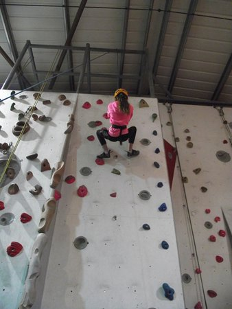 Indy Climbing Wall: 9 years old and had never climbed before.