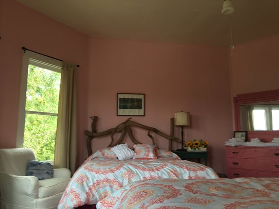 Blue Mountain Lake, NY: Osprey has queen and double beds with a view of the lake