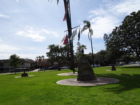 Coronado, CA: Memorial rock and cannons