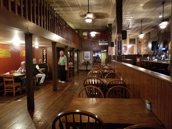 Bone Fire Smokehouse : There is also seating upstairs in this former hardware store