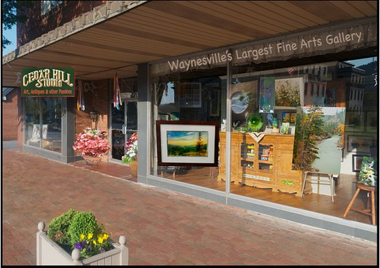 Waynesville, Βόρεια Καρολίνα: Fine Art Gallery with gifts, antiques and more.