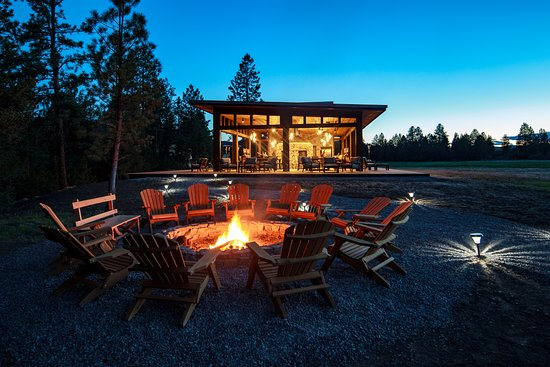Greenough, MT: New North Bank Camp Dining Pavilion and fire pit