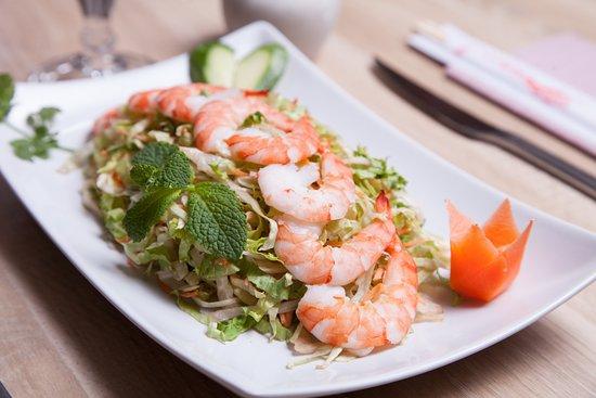 Chez Nam: Salade aux crevettes !