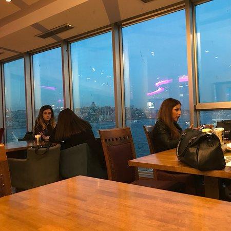 Ресторан с видом на город и Босфор