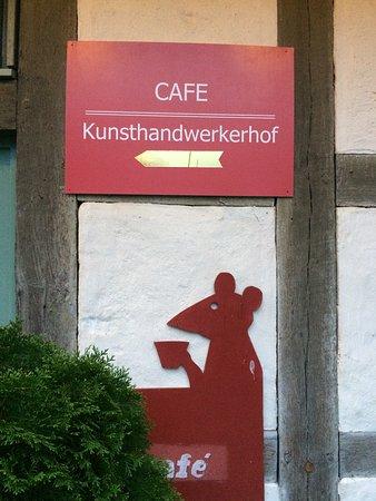 Koenigsberg in Bayern, Alemanha: Das Café im Kunsthandwerkerhof