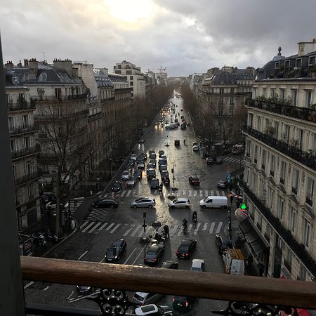 view from the balcony of room 205 picture of la villa haussmann paris tripadvisor. Black Bedroom Furniture Sets. Home Design Ideas