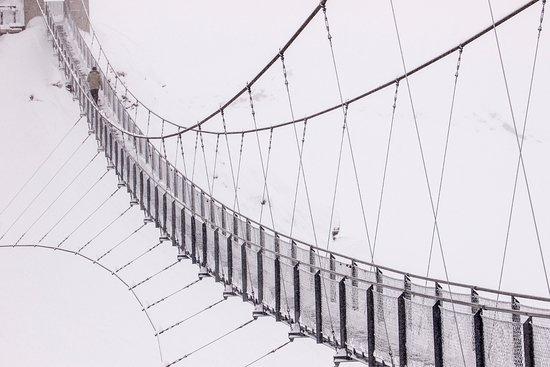 Stubnerkogel Suspension Bridge: Kładka w całej krasie