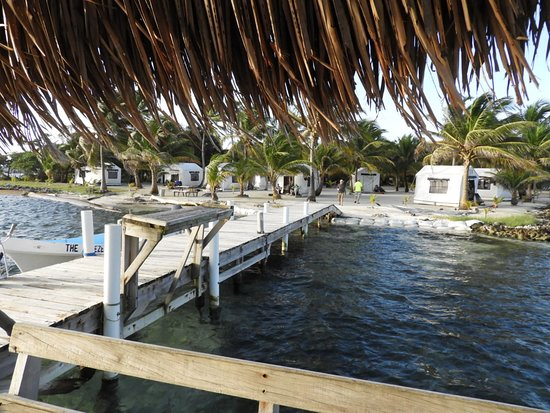 Glovers Reef Atoll, Belize: View from dock