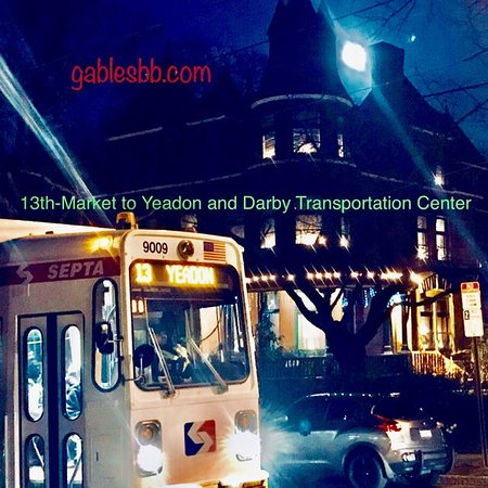 The Gables Bed and Breakfast: The #13 Trolley will take you and back from The Gables to the sites downtown.