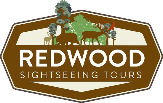 Crescent City, Kaliforniya: Redwood Sightseeing Tours Company Logo.