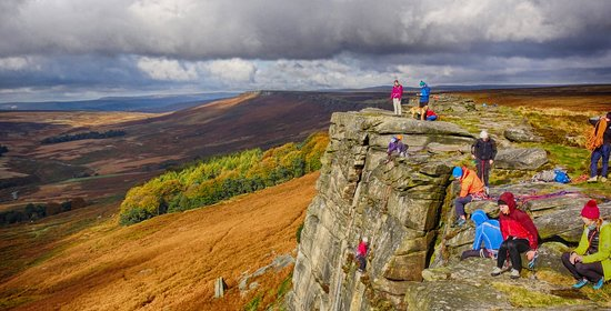 Edale, UK: Autumn at Stanage Edge on Guided Walk