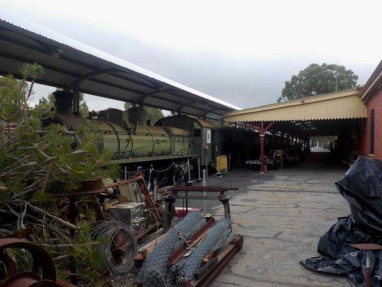 Northam Heritage Centre - Old Northam Railway Station: Steam loco and platform