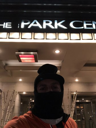 Park Central Hotel New York: -9 celsius, Sunday 19th early morning