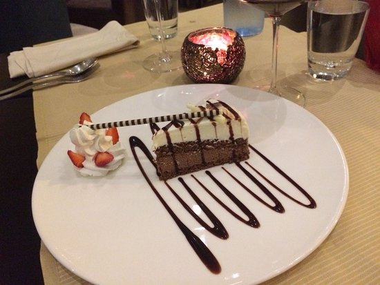 Anarita, Cyprus: White and Dark chocolate mouse